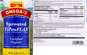 Health From The Sun Sprouted FiProFLAX - supplement