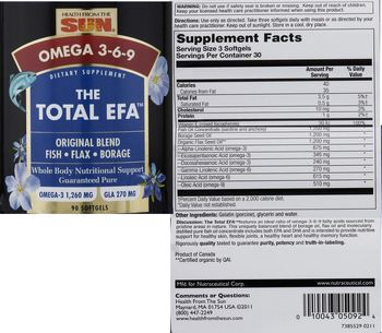 Health From The Sun The Total EFA -