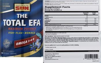 Health From The Sun The Total EFA Maximum Potency - supplement