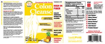 Health PLUS Inc Colon Cleanse Refreshing Pineapple Flavor - bulk forming supplement