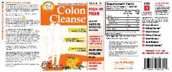 Health PLUS Inc Colon Cleanse Sugar Free Refreshing Orange Flavor - bulk forming supplement