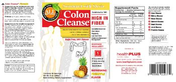 Health PLUS Inc Colon Cleanse Sugar Free Refreshing Pineapple Flavor - bulk forming supplement