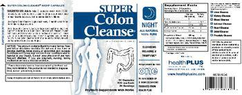 Health PLUS Inc Super Colon Cleanse Night - psyllium supplement with herbs