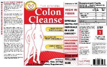 Health PLUS Inc The Original Colon Cleanse - bulk forming supplement