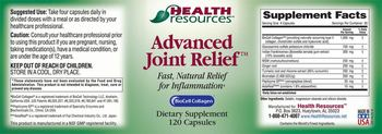 Health Resources Advanced Joint Relief - supplement