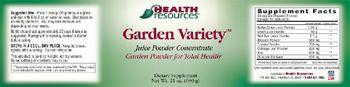 Health Resources Garden Variety - supplement