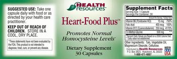 Health Resources Heart-Food Plus - supplement