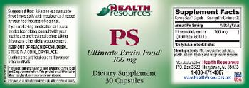 Health Resources PS 100 mg - supplement