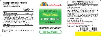 Health Star Extra Strength Probiotic Acidophilus With Pectin - supplement