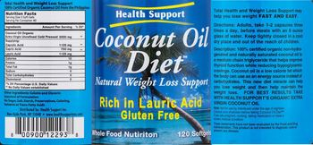 Health Support Inc. Coconut Oil Diet -