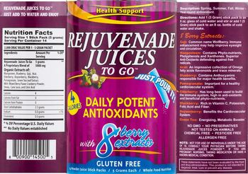 Health Support Rejuvenade Juices To Go -