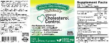 Health Thru Nutrition Naturally Advanced Cholesterol Control - supplement