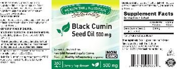 Health Thru Nutrition Naturally Black Cumin Seed Oil 500 mg - supplement