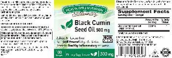 Health Thru Nutrition Naturally Black Cumin Seed Oil 500 mg - supplement