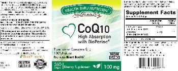 Health Thru Nutrition Naturally CoQ10 100 mg - supplement