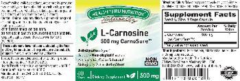 Health Thru Nutrition Naturally L-Carnosine 500 mg - supplement