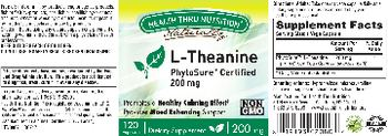 Health Thru Nutrition Naturally L-Theanine 200 mg - supplement