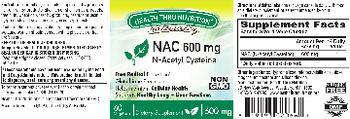 Health Thru Nutrition Naturally NAC 600 mg - supplement