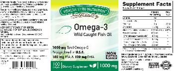 Health Thru Nutrition Naturally Omega-3 1000 mg - supplement