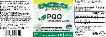 Health Thru Nutrition Naturally PQQ 20 mg - supplement