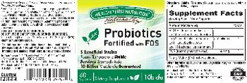 Health Thru Nutrition Naturally Probiotics Fortified With FOS - supplement