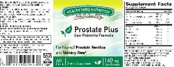 Health Thru Nutrition Naturally Prostate Plus - supplement