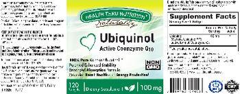 Health Thru Nutrition Naturally Ubiquinol 100 mg - supplement