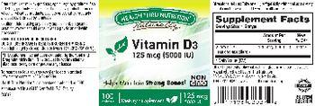 Health Thru Nutrition Naturally Vitamin D3 125 mcg (5000 IU) - supplement