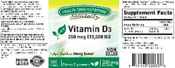Health Thru Nutrition Naturally Vitamin D3 250 mcg (10,000 IU) - supplement
