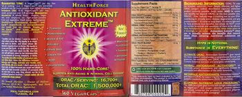 HealthForce Antioxidant Extreme - supplement