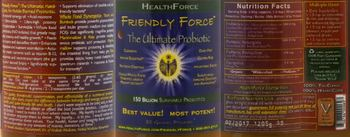 HealthForce Friendly Force The Ultimate Probiotic - daily supplement
