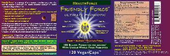 HealthForce Friendly Force Ultimate Probiotic -