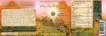 HealthForce SuperFoods Maca Force Lucuma Spice -