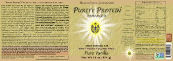 HealthForce SuperFoods Purity Protein Enhanced Pure Vanilla -