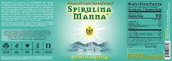 HealthForce SuperFoods Spirulina Manna -