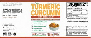 HealthVine Turmeric Curcumin 1000 mg - natural supplement