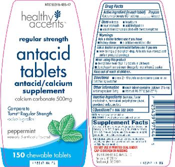 Healthy Accents Antacid Tablets Peppermint - antacidcalcium supplement