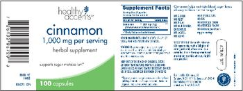 Healthy Accents Cinnamon 1,000 mg - herbal supplement