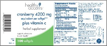 Healthy Accents Cranberry Plus Vitamin C - herbal supplement