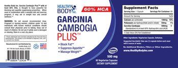 Healthy Body Garcinia Cambogia 500 mg Plus - supplement