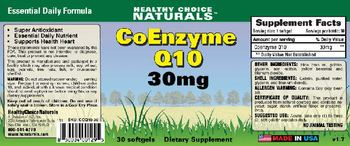 Healthy Choice Naturals CoEnzyme Q10 30 mg - supplement
