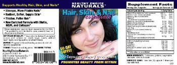 Healthy Choice Naturals Hair, Skin, & Nail Essentials - supplement