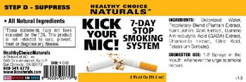 Healthy Choice Naturals Kick Your Nic! 7-Day Stop Smoking System Step D -