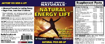 Healthy Choice Naturals Natural Energy Lift - supplement