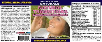 Healthy Choice Naturals Natural Transitions - supplement