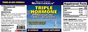 Healthy Choice Naturals Triple Hormone - supplement