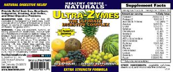Healthy Choice Naturals Ultra-Zymes - supplement