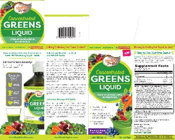 Healthy Delights Concentrated Greens Liquid - supplement