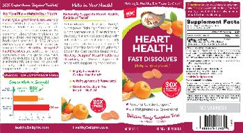 Healthy Delights Heart Health Fast Dissolves Delicious Tangy Tangerine Twist - supplement
