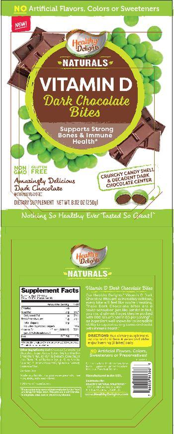 Healthy Delights Naturals Vitamin D Dark Chocolate Bites - supplement